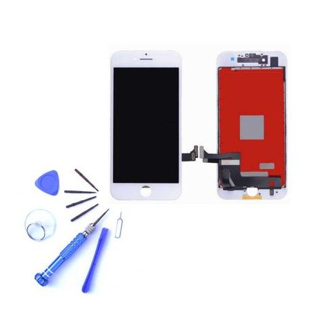 Ecran iPhone 7 blanc - Kit de réparation complet