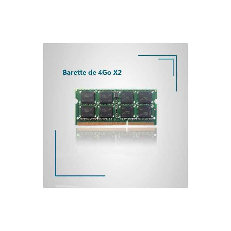 4 Go X2 de ram DDR3 pour pc portable